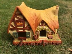 Disney Snow White Garden Collection Bird House Cottage Of Seven Doors New And Rare