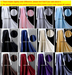 30mm 100 Mulberry Silk Satin Fabric 140cm / 55 Wide For Bedding Clothing