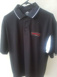 Farmer John  Employee Pullover Polo Shirt Black Butcher Medium Tri Mountain RARE $40.00