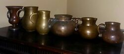 Three 15th Cen.bronze Passing Cups And Two 18 Or 19 Cen. Mea. 1 Three Lovers Cup