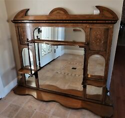 antique Overmantle Mirror/fireplace/overmantle Mirror/ Fireplace Decor