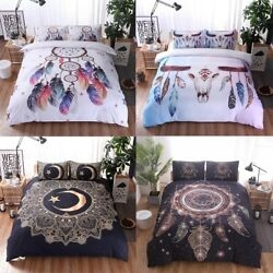 Feather Dream Catcher Duvet Quilt Cover SingleQueenKing Size Bedding Set New