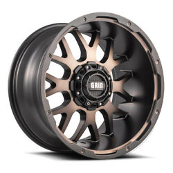 20x9 Grid Offroad Gd02 Matte Bronze Wheels 8x180 +15 124.2 Set Of 4