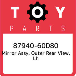 87940-60d80 Toyota Mirror Assy Outer Rear View Lh 8794060d80 New Genuine Oem