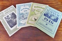 Vintage Telephone Almanac Bell Advertisement Lot Of 4 1946-1961 Wi Telephone Co.
