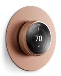 Nest Learning Thermostat Wall Plate Cover Durable Aluminum Round Modern Bronze