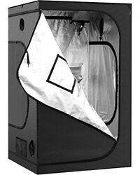 iPower Hydroponic Mylar Grow Tent with Observation Window Indoor Plant Growing