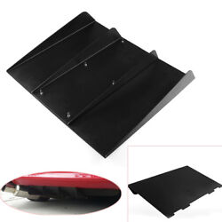 22and039and039x19 Abs Textured Rear Bumper Center 4 Fins Curved Diffuser Fin Black Solid