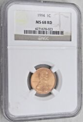 1994 Lincoln Memorial Cent/penny - Ngc Ms 68 Rd 8-023