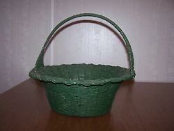 Conoco Continental Oil Gallon Can Crafted Into Large Green Basket Old