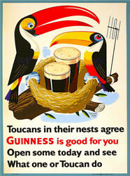 Metal Tin Sign guinness is good for you Decor Bar Pub Home Vintage Retro