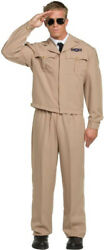 Morris Costumes Men's Long Sleeve 40s Male High Flyer Costume One Size. UR29032