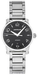 New Timewalker 39mm Auto Black Dial Ss Menand039s Watch 110339
