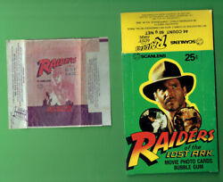 Qq. 1981 Scanlens Raiders Of The Lost Ark Card Set, Wrapper And Display Box