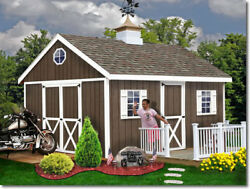 Best Barns Easton 20x12 Wood Storage Shed Kit - ALL Pre-Cut