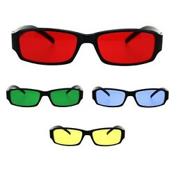 Classic Pimp Pop Color Lens Plastic Rectangular Sunglasses $9.95