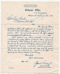 Civil War Ordnance + 16th Ohio Battery Documents 3rd Vermont Vol Inf Co A Etc