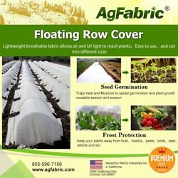 Agfabric Floating Row Cover Frost Blanket Garden Fabric Cover 0.55oz 10ft X100ft