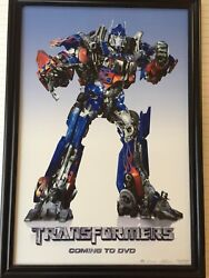 Transformers Coming To Dvd Of Commercial, Dreamworks Pictures, 24 X 36, Framed