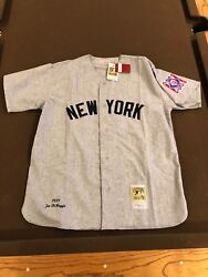 Mitchell And Ness Joe Dimaggio Yankees Authentic Jersey Size 52 Xxl Brand New