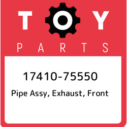 17410-75550 Toyota Pipe Assy Exhaust Front 1741075550 New Genuine Oem Part