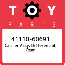 41110-60691 Toyota Carrier Assy, Differential, Rear 4111060691, New Genuine Oem