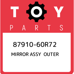 87910-60r72 Toyota Mirror Assy Outer 8791060r72 New Genuine Oem Part