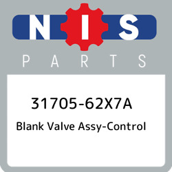 31705-62X7A Nissan Blank valve assy-control 3170562X7A New Genuine OEM Part