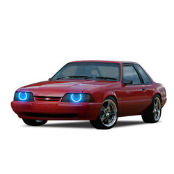 Ford Mustang 87-93 Chs Bright Blue Led Headlight Halo Ring Kit
