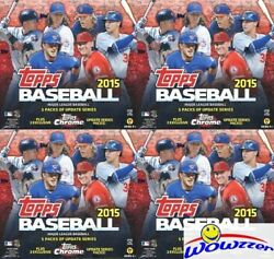 4 2015 Topps Chrome Update Baseball Exclusive Factory Sealed Mega Boxes-hot