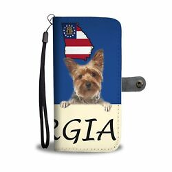 Yorkshire Terrier (Yorkie) Print Wallet Case-Free Shipping-GA State