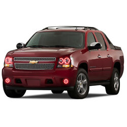 Led Headlight Fog Halo Ring Rgb Multi-color Wifi Kit For Chevy Avalanche 07-13