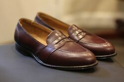 Alden 683 Burgundy Calf Leather Penny Loafers Shoes Made In Usa New Size 10 E