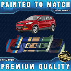 New Painted To Match Front Bumper Cover For 2013-2016 Ford Escape S Se W/o Park