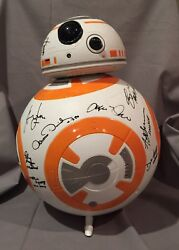 HARRISON FORD, MARK HAMILL & (17) STAR WARS The Force Awakens CAST SIGNED BB-8