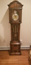 RIDGEWAY Tempus Fugit Grandfather Grandmother Hall Clock