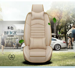 Luxury 5D Beige Car Styling Full Front + Rear Cushion 5-Seats 13X Linen material