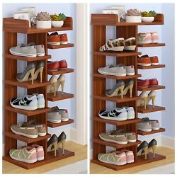 Home Decor Wood Mdf Solid Shelf Shoe Rack Organizer Entryway Bedroom 6 7 Tiers