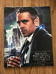 Colin Farrell Autographed 11x14 Photo The Lobster Fantastic Beasts Total Recall