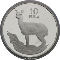 1978 Botswana Wildlife Silver Proof 10 Pula Coin Low Mintage Coin