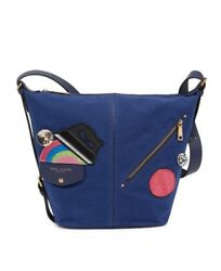 Marc Jacobs Convertible Sling Backpack Blue Canvas Cross Body Bag Retail $395