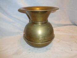 Vintage Embossed Union Pacific Railroad Brass Copper Spittoon Weighted Bottom