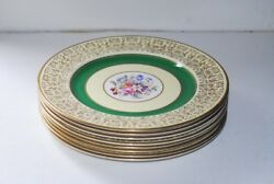 8 Johnson Brothers Pareek Green And Gold Dinner Plate Plates L@@k Floral