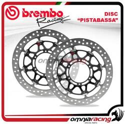 Pair of Brembo Pistabassa front Brake Disc 320mm for Yamaha YZF R6 2017