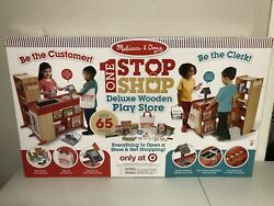 Melissa & Doug Deluxe One Stop Shop Play Store Set-65pc New In Box Target Excl