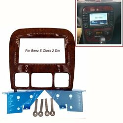 2din Car Radio Stereo Fascia Panel Dash Frame For Benz S Class W220 1998-2006
