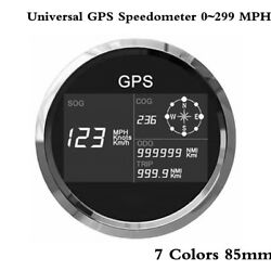 New 7 Colors 85mm Universal Gps Speedometer 0299 Mph Knots Km/h Motorcycle Boat