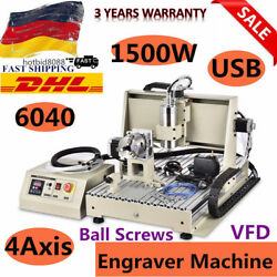 USB 4 Axis 1.5KW VFD 6040T Router Metal Engraver Mill drill Machine DHL SHIP