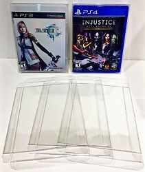 50 Box Protectors For Ps3 Ps4 Video Games Custom Clear Cases Playstation 3 4