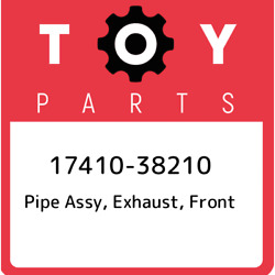 17410-38210 Toyota Pipe Assy Exhaust Front 1741038210 New Genuine Oem Part